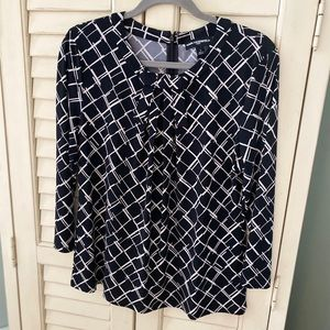 Karl Lagerfeld Black and White Top